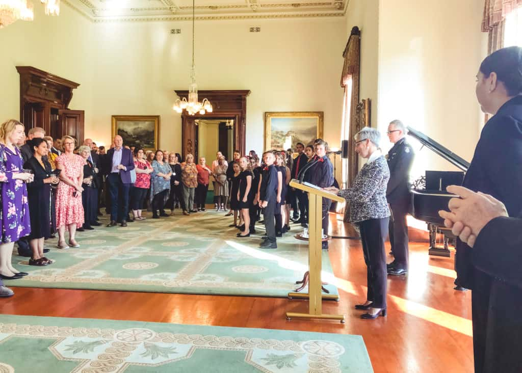 Victoria's Governor, Linda Dessau AC hosted a Reception in honour of the Rumbalara Football Netball Club on 5th February 2020.