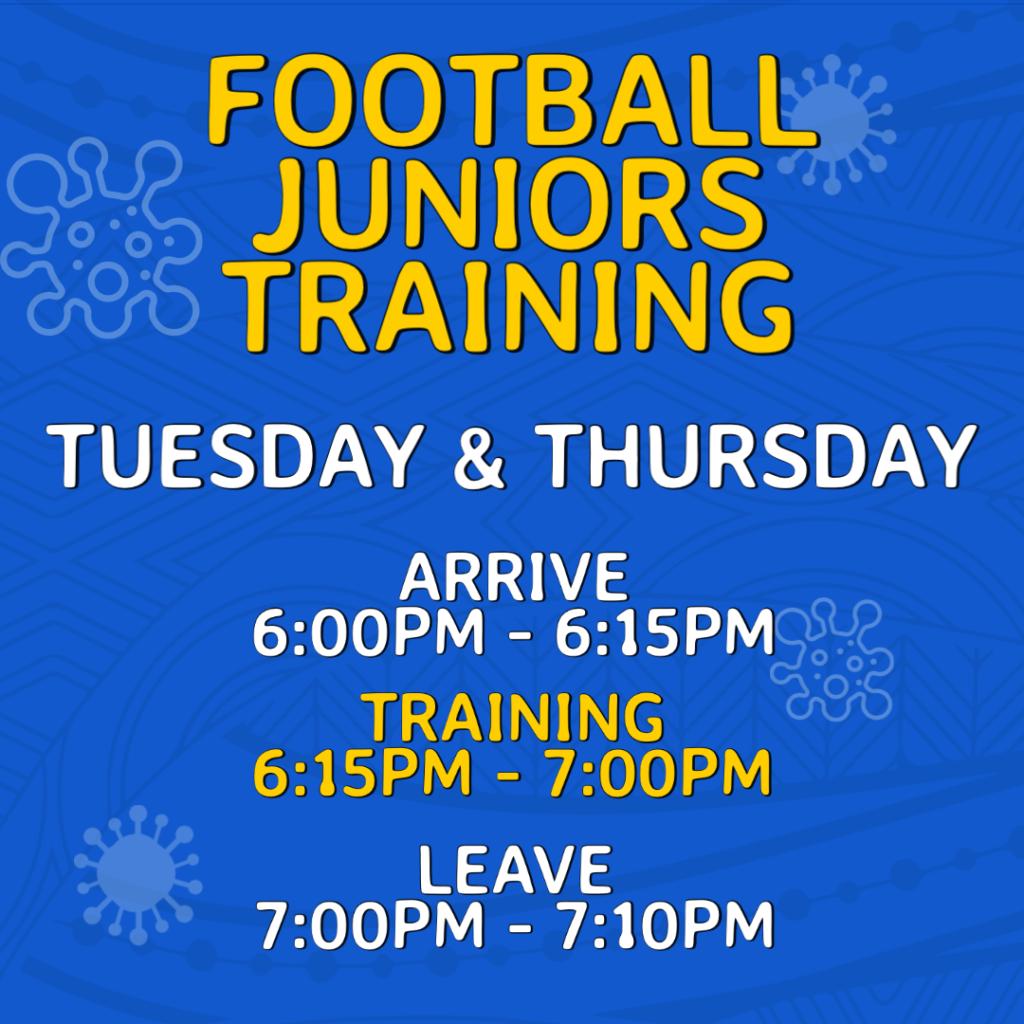 Return to Training - Juniors Football